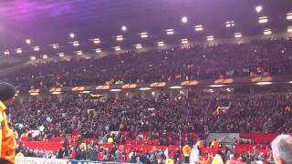 Ajax fans singing @Old Trafford