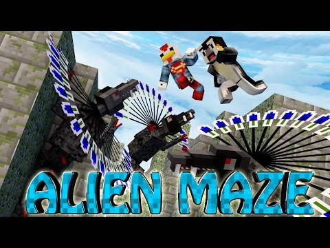 Minecraft | MAZE CHALLENGE SURVIVAL - ALIEN Challenge Part 7! (CrazyCraft)