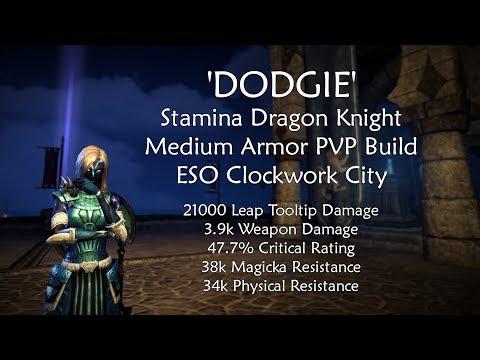 'Dodgie'   Stamina Dragon Knight PVP Build   ESO Clockwork City