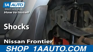How To Install Replace Front Shocks 2003-04 Nissan Frontier and XTerra