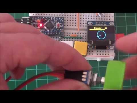 Arduino Nano and Visuino: Save Rotary Encoder Value