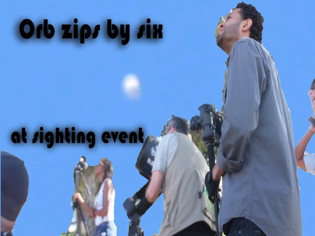 An orb zips by six at UFO sighting Event in Los Angeles