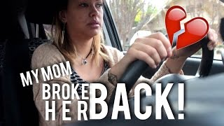 MY MOM BROKE HER BACK :( | ZOMBIELIFE