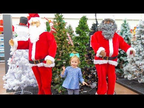 Влог: Готовимся к Новому Году, Покупаем ёлку, огромного Деда Мороза и Игрушки