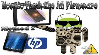 How to fix the A6 firmware Battery Drain Problem on the HP TouchPad method 2