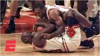 Michael Jordan, Bulls lock up 4th title in Game 6 win vs. Sonics in 1996 NBA Finals   ESPN Archives