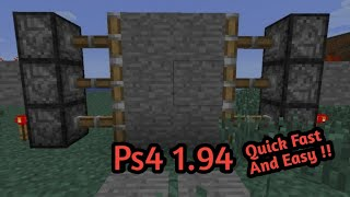 Minecraft How To Make Secret Door! - Ps4 1.94!
