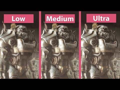 Fallout 4 – PC Low vs. Medium vs. High vs. Ultra Detailed Graphics Comparison