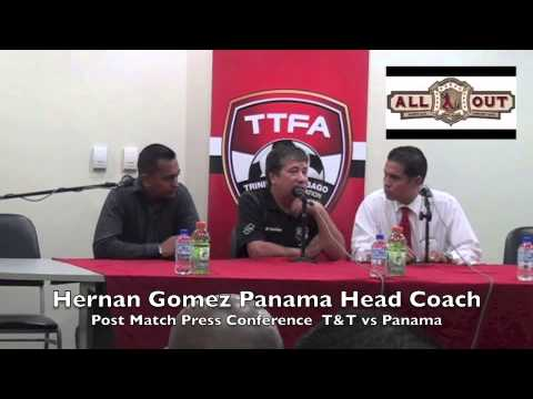 Panama head coach Hernan Gomez at Post Match Press Conference