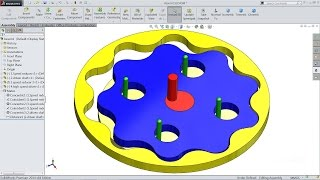 Solidworks tutorial | sketch Cycloidal Speed reducer mechanism in Solidworks