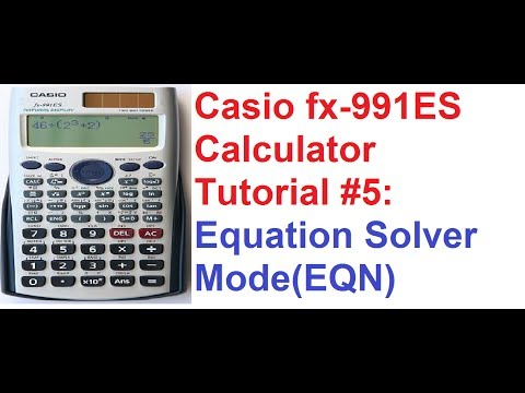 how to solve matrix in calculator casio fx 991ms