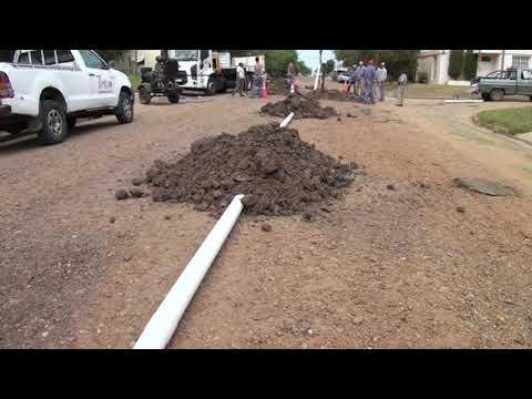 Se llevan adelante obras de reparación en la red cloacal