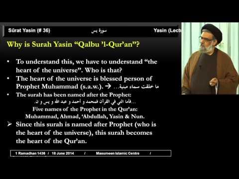 Tafsir Of Surah Yasin [part 1] - 1st Ramadhan 1436 - Sayyid Muhammad Rizvi
