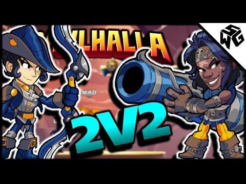 Ranked 2v2's w/ Mdslush- Brawlhalla Gameplay :: Two 2v1 Wins!