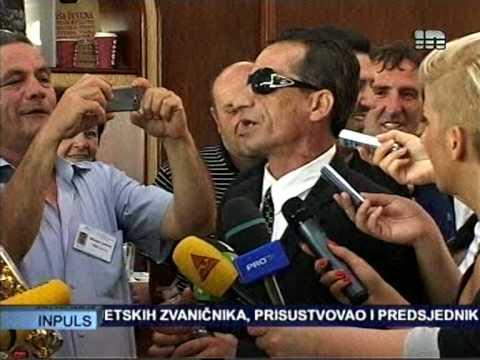 Ekrem Jevric u Podgorici - Docek na aerodromu
