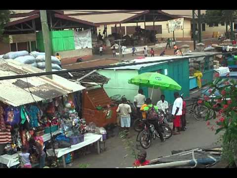 Street view Accra,  Ghana. Osu Mission Street.