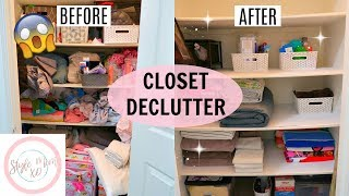 CLEAN WITH ME 2019 | CLOSET DECLUTTER & ORGANIZATION 2019 | TARGET BINS