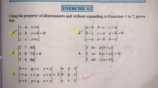 EX 4.2 Q9 TO Q16  SOLUTIONS OF DETERMINANTS NCERT CHAPTER 4 CLASS 12th(PART2)