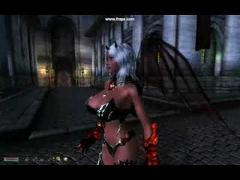 Oblivion Draconic Armor H cup moving breasts