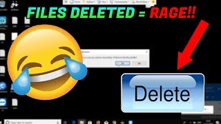 DELETING A SCAMMERS FILES! HE RAGED! [Destroying a scammer's PC]
