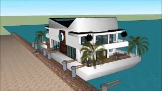 Water Floating house anime collections in Cambodia Key west living on a Floating house anime collect