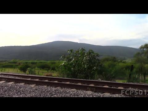 Ferromex: Trenes en San Jacinto Jalisco Distrito La Barca Vía I.  21 de Septiembre 2013.