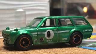 Review Hot Wheels 71 Datsun Bluebird 510 Wagon Legends Tour 2018 - Hot Wheels Guatemala - Enero 2020