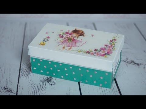 Украсить обувную коробку своими руками 83