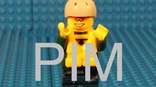 Lego Pim jumps in parachute