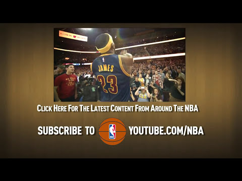 Lebron Avoids Defender and No Look Dishes
