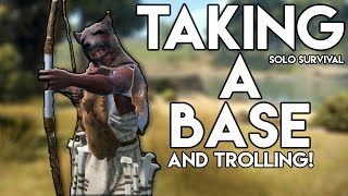 Taking A Base and Trolling Noobs! | Rust SOLO Survival