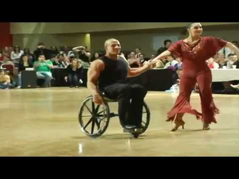 Aubree Marchione & Nick Scott Represent USA at 2010 Paralympics Wheelchair Ballroom Dancing
