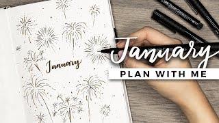 PLAN WITH ME   January 2018 Bullet Journal Setup