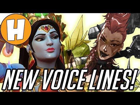 Overwatch - NEW Junkertown Queen Voice Lines + Hindi Symmetra and Junkrat! | Hammeh