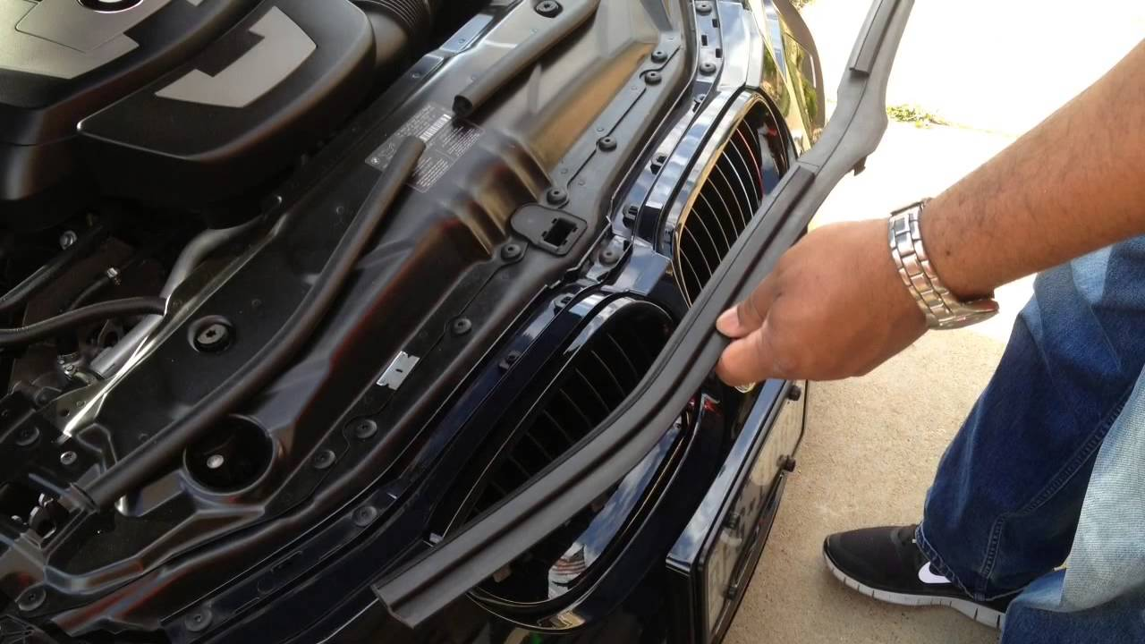 how to change bmw m sport kidney grill
