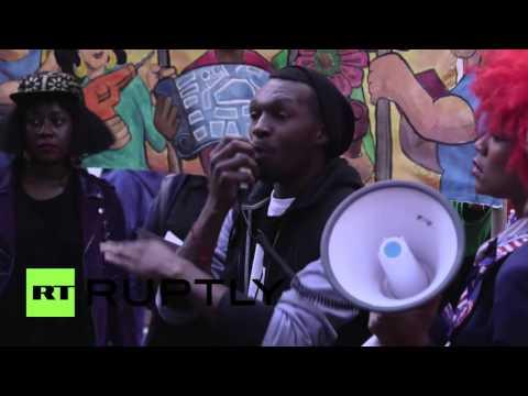 USA: Anti-Chase Bank rally shuts down NYC's Park Ave