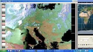 RICEZIONE DEL SATELLITE NOAA15 | Italia, europa centrale [HD]