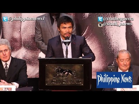 Manny Pacquiao's Last Media Conference #Maypac [FULL]