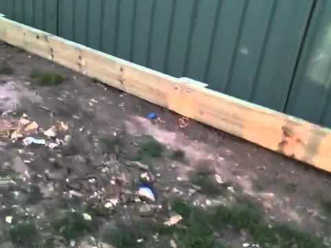 Cca H4 Treated Pine Sleeper Retaining Wall Youtube