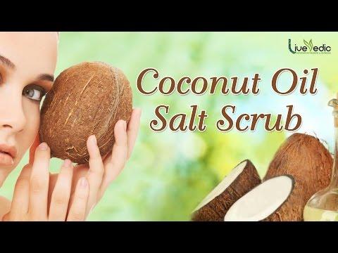 Coconut Oil Salt Scrub   Homemade Natural Exfoliating Body Scrub   LIVE VEDIC