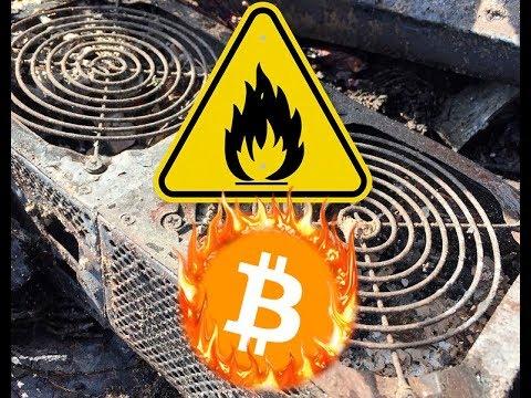Warning! Mining Bitcoins Is Fire Hazard!   Viewer Discretion Is Advised