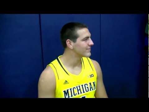 Mitch McGary at Michigan Basketball Media Day 2012-13