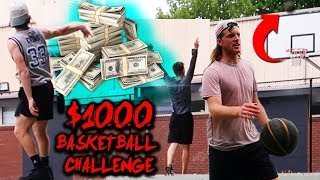 Making TWO Half Court Shots For $1000 - BEST GAME EVER!