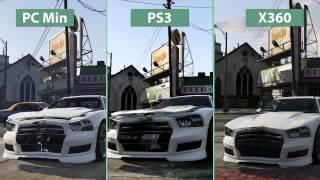 GTA 5 Новое детальное сравнение на PC минимальные настройки vs PS3 vs Xbox 360