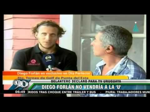 Diego Forlán descartó ser el nuevo jale de Universitario de Deportes