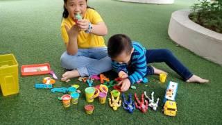 Cách làm đất nặn- dat set -play doh do choi - toys Annam Review TV