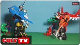 đồ chơi Doremon hài - Gao khỉ đánh Gao phương hoàng và người nhện siêu nhân gao đỏ nobita