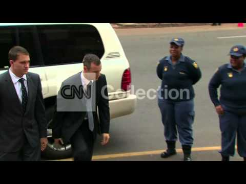 SOUTH AFRICA: OSCAR PISTORIUS ARRIVAL (THURS)
