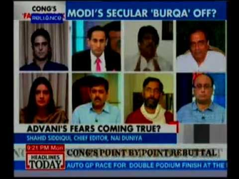 Headlines Today Debate on Modi Burqua issue