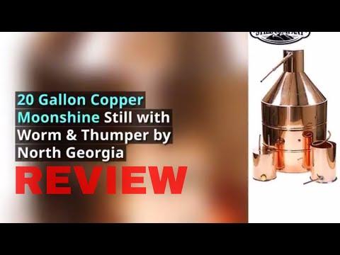 20 Gallon Copper Moonshine Still with Worm & Thumper by North Georgia Still Company